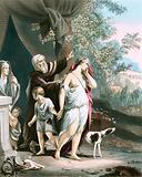 Hagar and her son departeth