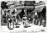 Scene in Delhi: The cross roads, Chandni Chowk, The principal business thoroughfare