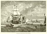 East India company's ships leaving Woolwich (1623)