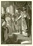 Rehoboam accepting the advice of the young men