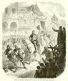 Entry of Charles Martel into Paris, after defeating the Saracens