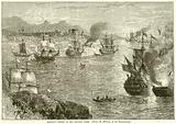 Morgan's Defeat of the Spanish fleet