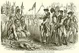 General Burgoyne addressing the Indians