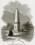 Monument erected at Wyoming