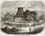 Fijian Temple and Scene of Cannibalism