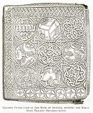 Leather Outer Case of the Book of Armagh, showing the Early Irish Tracery Ornamentation