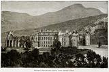 Holyrood Palace and Chapel, with Arthur's Seat