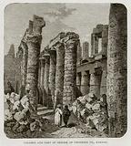 Columns and part of Obelisk of Thothmes III., Karnak