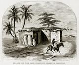 Fellah's Hut, with land divided into squares for irrigation