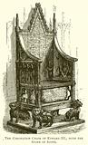 The Coronation Chair of Edward III. , with the Stone of Scone.