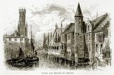 Canal and Belfry at Bruges