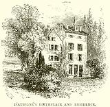 D'Aubigne's birthplace and residence