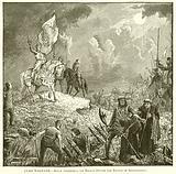 Clan Warfare. – Bruce addressing his Troops before the Battle of Bannockburn
