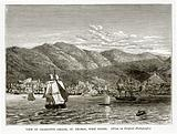 View of Charlotte Amalie, St Thomas, West Indies