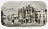 Fountain and Aqueduct, City of Mexico
