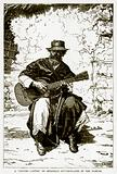 "A ""Gaucho Cantor,"" or Herdsman Guitar-Player of the Pampas"
