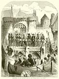 Strafford at the Traitors' Gate of the Tower going to his trial