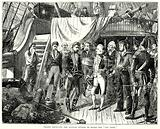 """Nelson receiving the Spanish Swords on board the """"San Josef"""""""