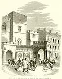 Entrance to the Old House of Lords in the Time of George II