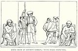 Scene from an Ancient Comedy, – with Stage Inspectors