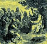 A Bard Singing the Deeds of Teuton Warriors