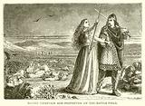 Danish Chieftain and Prophetess on the Battle-Field