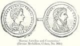 Marcus Aurelius and Commodus. (Bronze Medallion, Cohen, No. 369)