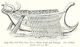 Long Ship with Fifty Oars, after a Mosaic found near Pozzuoli