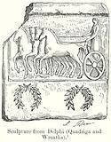 Sculpture from Delphi (Quadriga and Wreaths)
