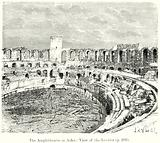 The Amphitheatre at Arles: View of the Interior