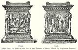 Front. Back. Altar found in 1880 on the site of the Theatre of Ostia, rebuilt by Septimius Severus