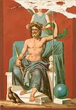 Zeus crowned by Victory