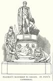 Flaxman's Monument to Nelson. St. Paul's Cathedral