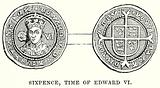 Sixpence, Time of Edward VI