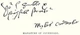 Signature of Coverdale