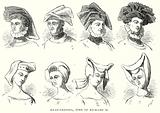Head-Dresses, Time of Richard II
