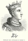 Portrait and Autograph of Henry V