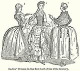 Ladies' Dresses in the First Half of the 18th Century