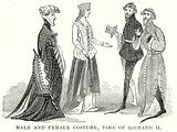 Male and Female Costume, Time of Richard II