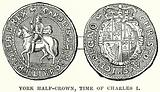York Half-Crown, Time of Charles I
