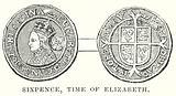 Sixpence, Time of Elizabeth