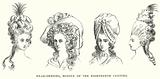 Head-Dresses, Middle of the Eighteenth Century