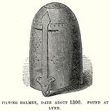 Tilting Helmet, Date About 1300. Found at Lynn