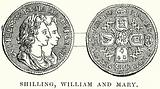 Shilling, William and Mary