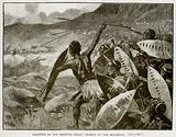 Fighting in the Matoppo Hills: Charge of the Matabele