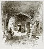 Sketch in the Outer Cloisters, Windsor Castle