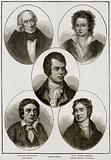 William Wordsworth, John Keats, Robert Burns, Percy Bysshe Shelley, Samuel Taylor Coleridge