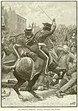 The Peterloo Massacre: Hussars charging the People