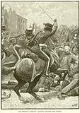 The Peterloo Massacre: Hussars charging the People