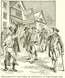 Procession in New York in Opposition to the Stamp Act